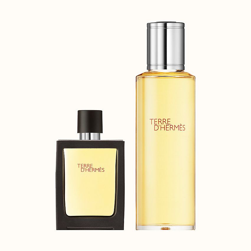 zoom image, Terre d'Hermes Parfum travel spray and refill