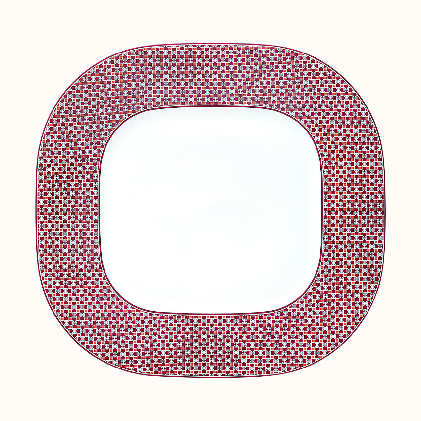 zoom image, Tie Set square platter