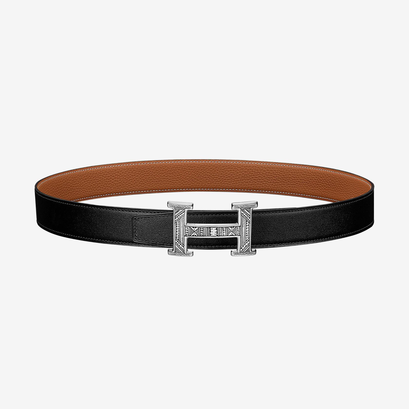 Touareg belt buckle & Reversible leather strap 32 mm