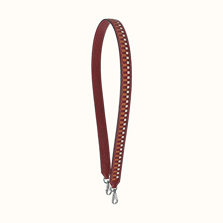 zoom image, Tressage cuir 25 mm bag strap