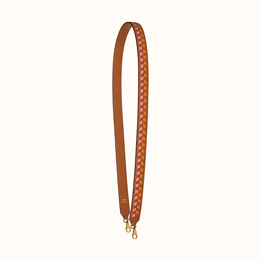 zoom image, Tressage cuir chevron 25 mm bag strap