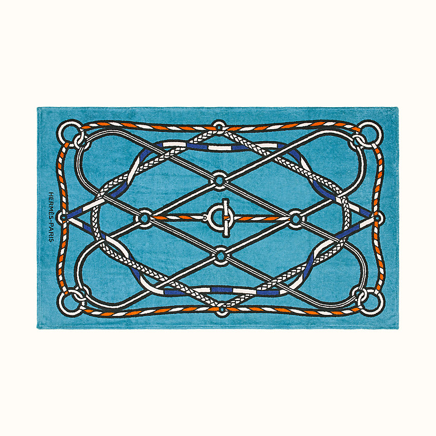 zoom image, Tressages Marins beach towel