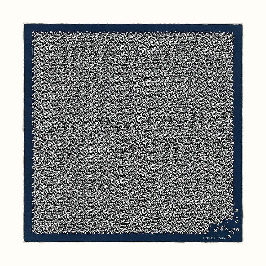 zoom image, Un Tour au Faubourg pocket square 45