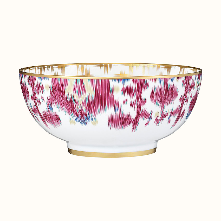 zoom image, Voyage en Ikat salad bowl, large model