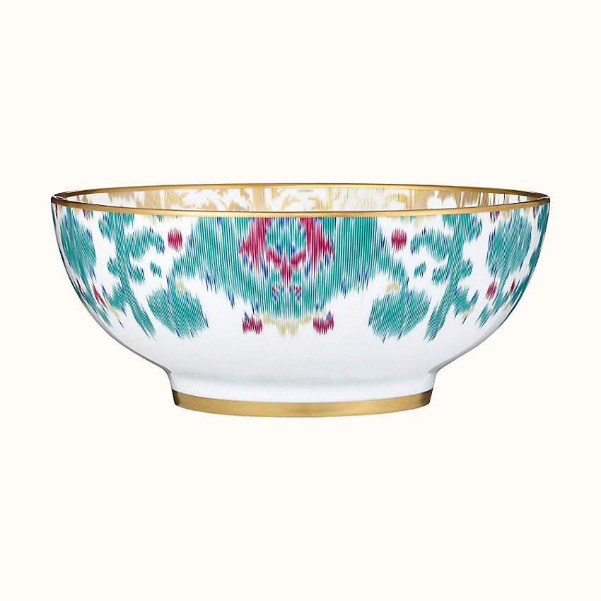 zoom image, Voyage en Ikat salad bowl, small model