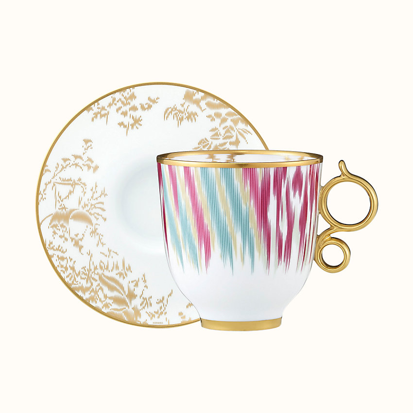 zoom image, Voyage en Ikat tall cup and saucer