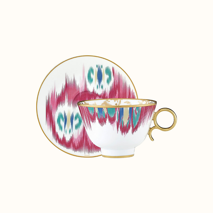zoom image, Voyage en Ikat tea cup and saucer