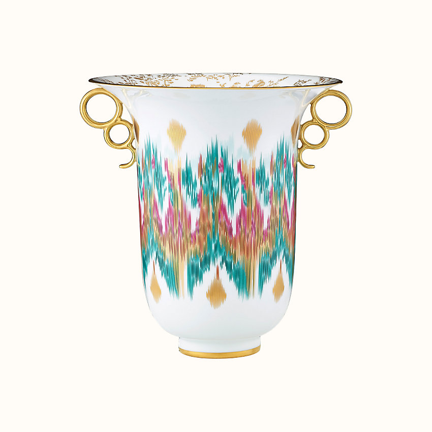 zoom image, Voyage en Ikat vase, large model